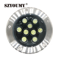 SZYOUMY 6 Pcs IP67 Waterproof Led Floor Light 9W Outdoor Garden Buried Lights DC 12V Or