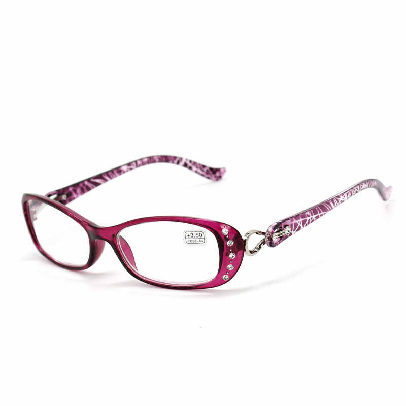 a5679d218a Rhinestone Reading Glasses Women Gafas de Lectura Luxury Fashion Spectacle  +50 +75 100 125 150 175 200 225 250 275 375 +450 +500