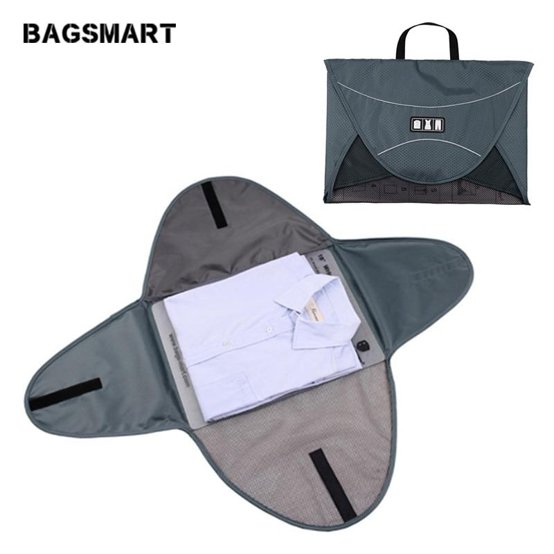 BAGSMART 17 hüvelykes ránctalanító ing utazási csomagoló kocka kis utazótáska ingek számára poggyász utazási felszerelés ruházati mappa