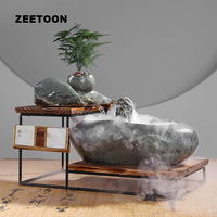 Zen Fountain Water Features Lucky Crystal Ball Feng Shui Vintage Home Decor Humidifier Desktop Fish Tank Flower Pot Nebulizer