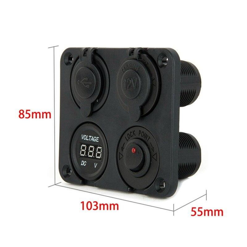 4 порт су өткізбейтін 2 USB USB зарядтағыш - Авто бөлшектер - фото 5