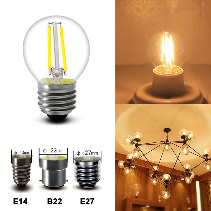 led bulb e14 e27 b22 G45 2W 4W 6W Dimmable led light bulbs for home loft decor vintage decorative lamp