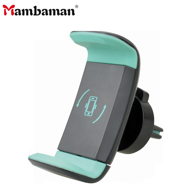Car Phone Holder For IPhone X Xs Max 8 Xr 11 Pro 360 Degree Ratotable Support Mobile Air Vent Mount Car Holder Car Phone Stand