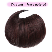 U Part Hair Extension Toupee Straight Artificial Human Hair Material Hair Hand made Natural Black Top Hair