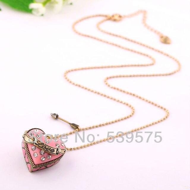 Unique sword love heart pendant necklace pink heart necklaces in unique sword love heart pendant necklace pink heart necklaces aloadofball Gallery
