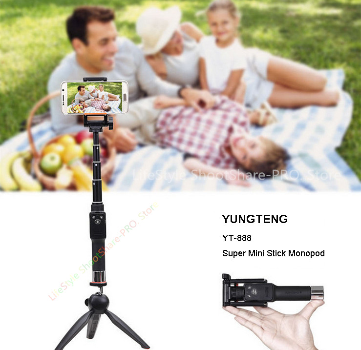 online store df5b5 43616 YUNTENG Tripod Monopods Tabletop Kits:Bluetooth Remote Stand Selfie Stick  For iPhone 10 6S 7 Plus For Samsung Galaxy S8 Android-in Selfie Sticks from  ...