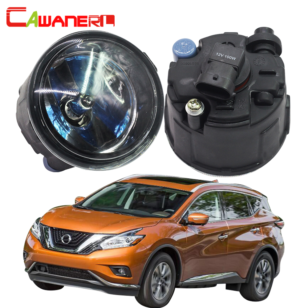 Cawanerl 2 X 100W H11 Car Halogen Fog Light DRL Daytime Running Lamp 12V For Nissan Murano Z51 Closed Off-Road Vehicle 2007-2014 2pcs for car styling fog lights nissan x trail t31 closed off road vehicle 2007 2014 halogen lamps 26150 8990b