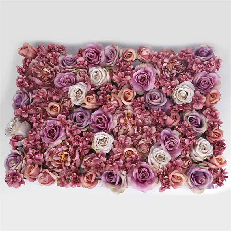 High grade Artificial Flower Wall Background Fake Flower Rose Wedding Photo Studio Arch Decoration Road Lead