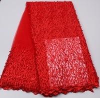 Mr. P Factory Outlet Afrikanisches Spitzegewebe Qualität Mesh Spitze Kleid Stoff Perlen Hochzeit Stoff XZ05P-2