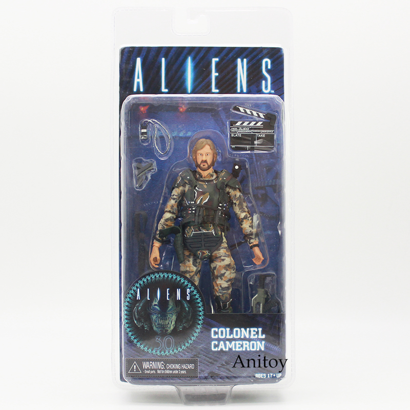 NECA ALIENS COLONEL CAMERON PVC Action Figure Collectible Model Toy 17cm neca alien xenomorph pvc action figure collectible model toy 19cm