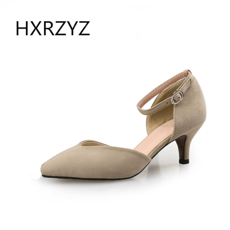 Spring/autumn woman shoes flock thin heel pointed toe shoes woman high heel low-heeled shoes women Fashion sexy club heels 2017 new summer women flock party pumps high heeled shoes thin heel fashion pointed toe high quality mature low uppers yc268