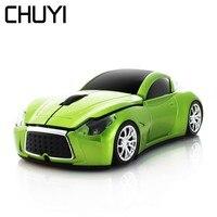 CHUYI 2 4 Ghz Drahtlose Maus Infiniti Sport Auto Form Mäuse 1600DPI Optische Computer Gaming Mause Mit USB Empfänger Für PC Laptop