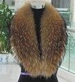 Frete grátis Natural gola de pele de guaxinim gola de pele de raposa gola de pele de guaxinim chapéu cachecol de colares de muito