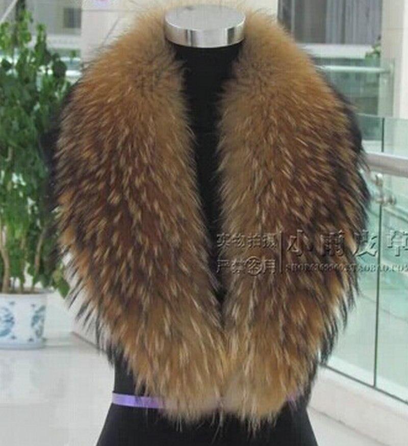 Livraison gratuite raton laveur Naturel col de fourrure fourrure de renard col fourrure de raton laveur collier vraiment chapeau écharpe bas colliers personnalisation