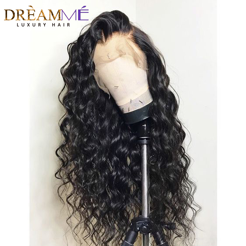 Preplucked 360 Lace Front Human Hair Wigs Water Wavy Lace Wig For Black Women Glueless Remy