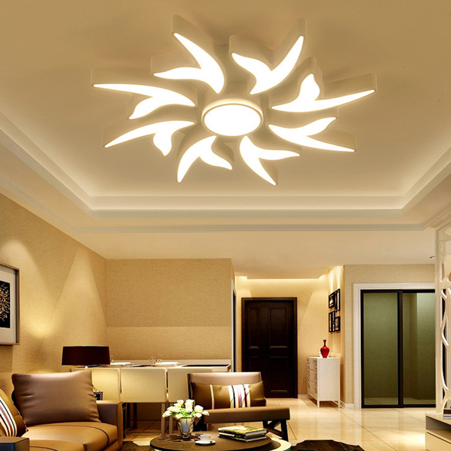 led plafond lumi res moderne lampe salon salle d 39 tude chambre luminaria de teto accueil led. Black Bedroom Furniture Sets. Home Design Ideas