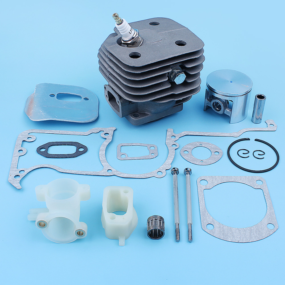52mm Big Bore Cylinder Piston Gaskets Kit For Husqvarna 266XP 266 XP SE Chainsaw Intake Spacer Carb Bolts Decompression Port
