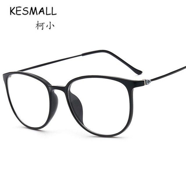 Kesmall tr90 Marcos gafas mujer hombre retro piernas delgadas ojo ...