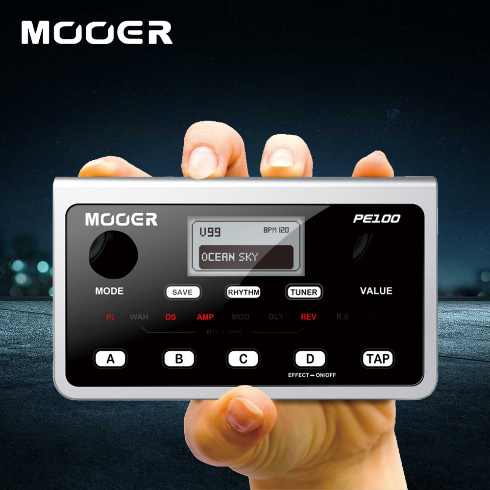 Mooer PE100 Portable Multi Guitar Effects Pedal Containing 39 Types Of Effects 99 Presets 40 Drum Patterns and 10 Metronomes деловой костюм effects of color 044
