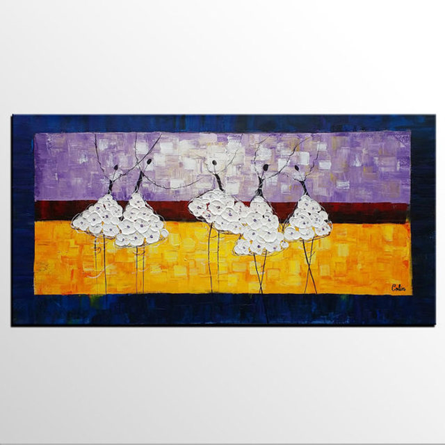 Online Shop Abstract Ballet Dancer Oil Painting On Canvas