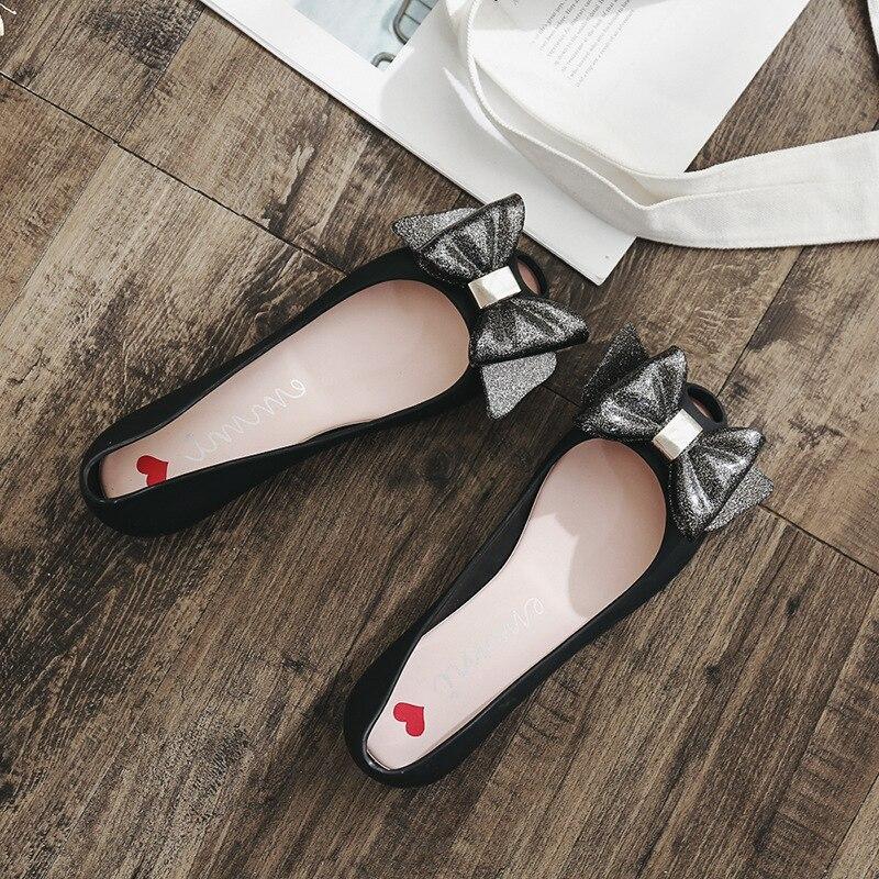 2018 Verão Mulheres Pvc Geléia Sapatos Femininos Boca de Peixe Moda Sandálias Senhora Plana Rasa Calçado Mulheres Sapatos de Chuva
