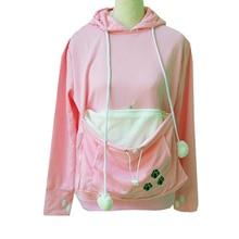 Drop shipping Women Cuddle Pouch Hoodies Mewgaroo Kangaroo Cat Pet Casual Blouse Pullovers Ears Sweatshirt Front Pocket Hoodie