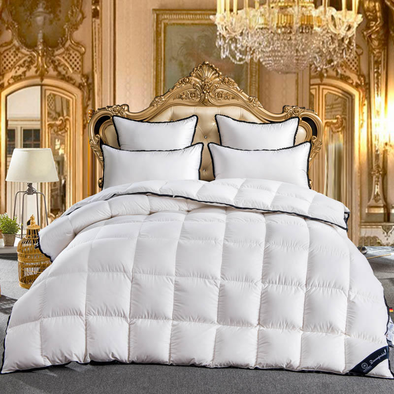 White Grey Goose Down Comforter Twin Full Queen King size Quilt Duvet bed cover filler set Warm Blanket edredon colcha couette