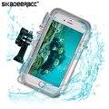 Sa83 ip68 a prueba de agua hermética al polvo a prueba de choques del teléfono case para iphone 6 6 s Teléfono Móvil Protector de Todo Alrededor de La Cubierta + Gran Angular lente