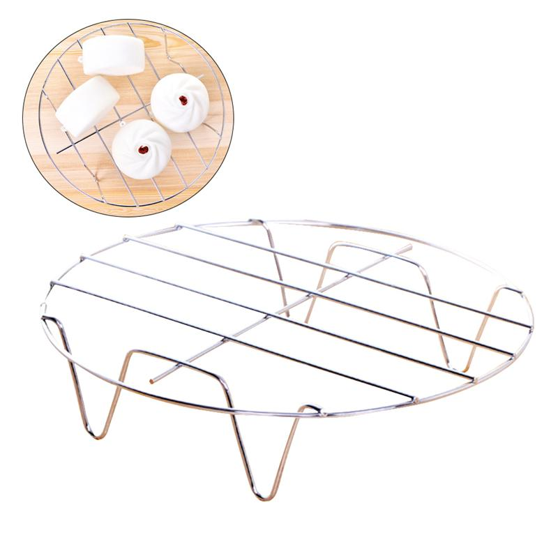 2Pcs Stainless Steel Steamer Rack Home Kitchenware Round Steamer Rack Stand Pot Steaming Tray Stand Kitchen Cookware