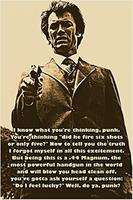 CLINT EASTWOOD Photo Quote Poster DO YOU FEEL LUCKY Wall Sticker Custom Poster 20x30inch 16x24inch 20x24inch