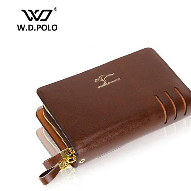 W.D. POLO Kangaroo root men day clutch business men classical long wallet  standard wallets brand hand b6999400d4420