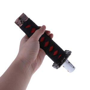 Image 3 - Модный 1 комплект, универсальный самурайский меч, автомобильная ручка переключения передач, катана, металлический Утяжеленный Спортивный рычаг переключения передач, 4 адаптера, автомобильные аксессуары