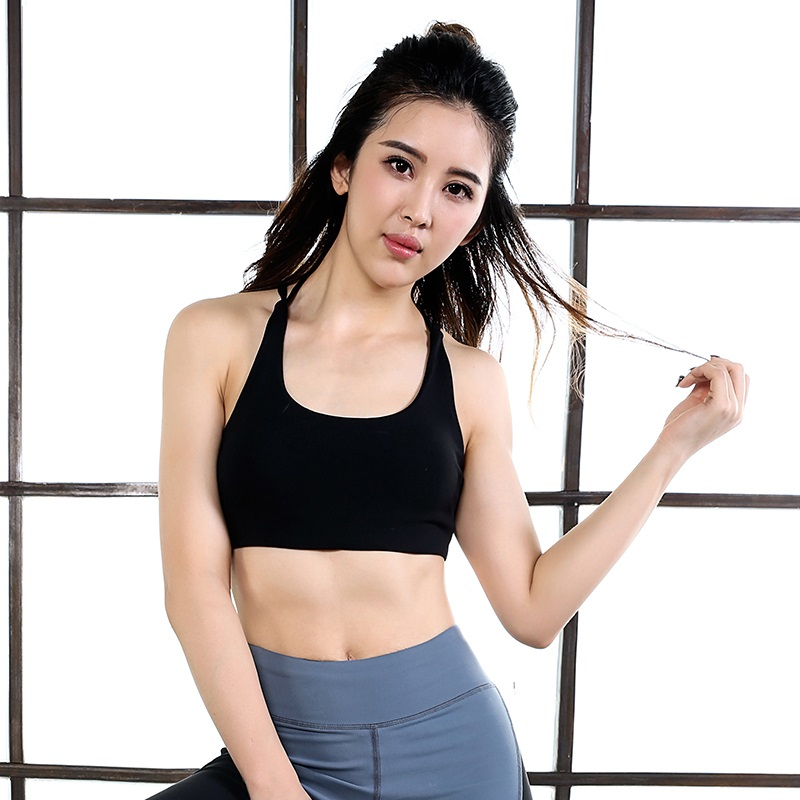 2017 Fashion Women Wire Free Seamless Solid Top Tank Fitness Tops Breathable Underwear Padded Push up