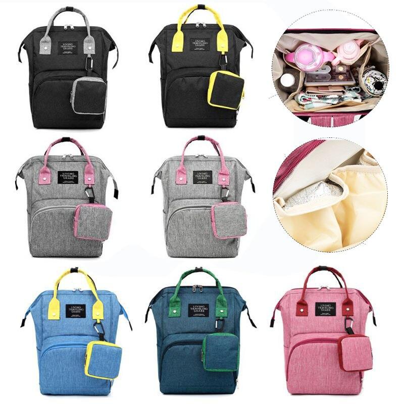 2pcs Fashion Mummy Maternity Nappy Bag Large Capacity Nappy Bag Travel Backpack Nursing Bag For Baby Care Women's Fashion Bag