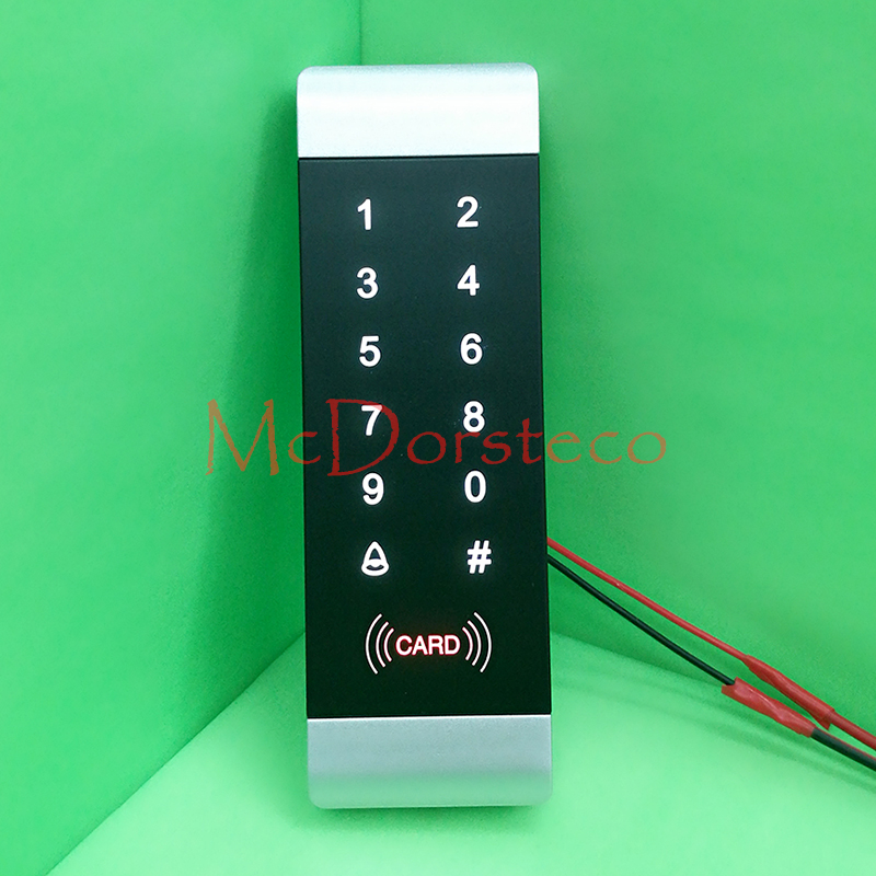 Rfid Lock System 125KHz Door RFID Card Password Access Controller with Touch Keypad Wiegand Input/output Door Controller metal rfid em card reader ip68 waterproof metal standalone door lock access control system with keypad 2000 card users capacity