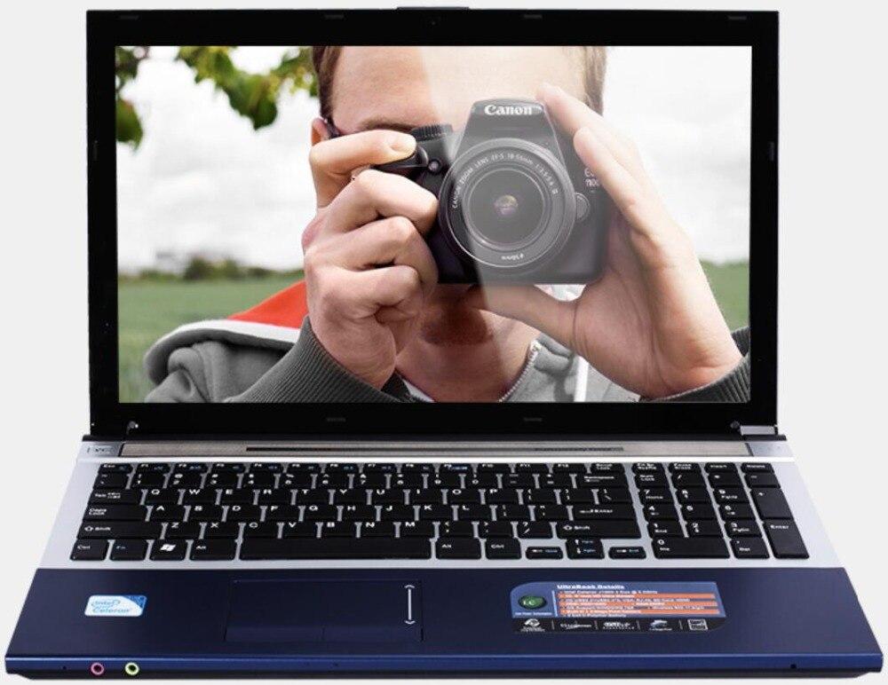 8g RAM + 1000 gb HDD 15.6 Ordinateurs Portables De Jeu N3520 Quad Core 2.16 ghz Vent 7/10 Notebook PC ordinateur portable Avec DVD RW WIFI Webcam HDMI