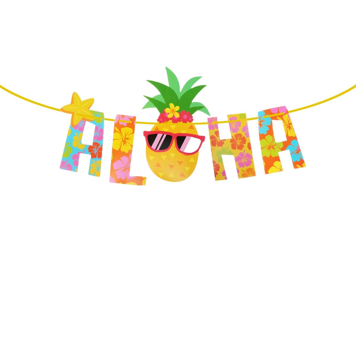 2.2 Meters Luau Party Banner Aloha Hawaii Theme Beach ... (1200 x 1200 Pixel)