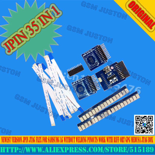 Jpin 35 in 1 for Samsumg LG huawei Without welding and pinout work with  RIFF BOX MEDUSA OCTOPUS JTAG BOX