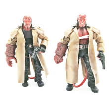 18cm MEZCO Hellboy Display Action Figure Model Toy Hellboy Collection Doll Jouet Children Birthday Toy Gift hot game lol league of legends 18cm assassin time ike complete figure high quality collection toy model toy dolls
