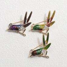 Брошь в виде Колибри для женщин и мужчин булавки броши с кристаллами
