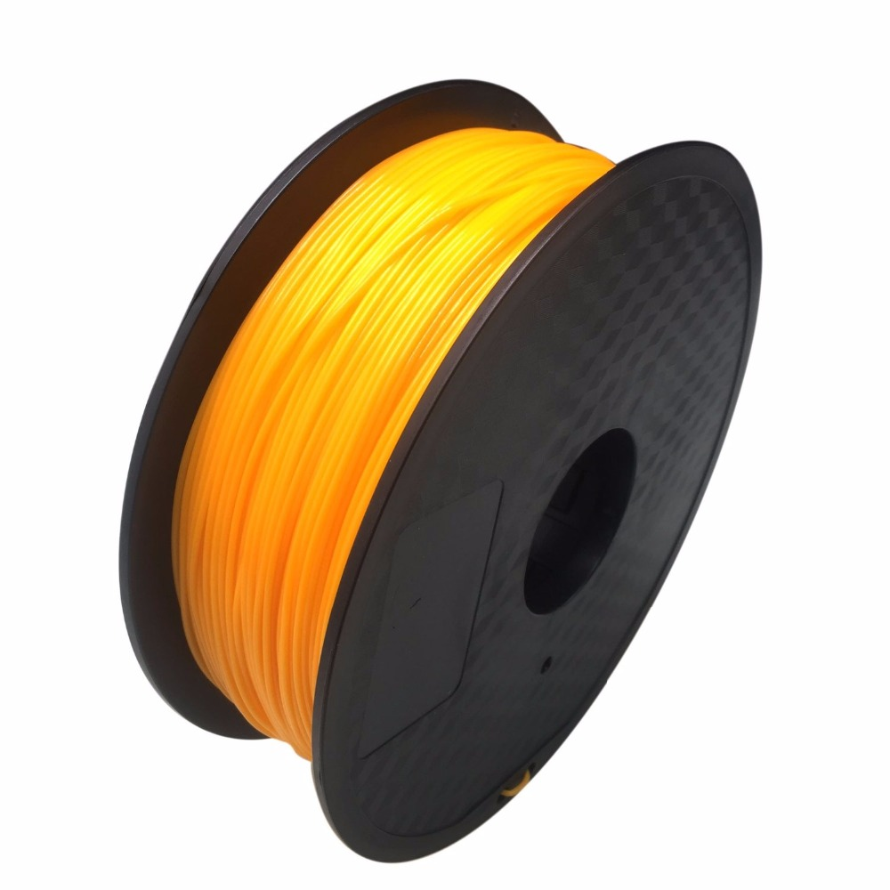 HIC 1.75mm Orange PLA Filament for 3D Printer - 1kg Spool (2.2 lbs) - Dimensional Accuracy +/- 0.05mm