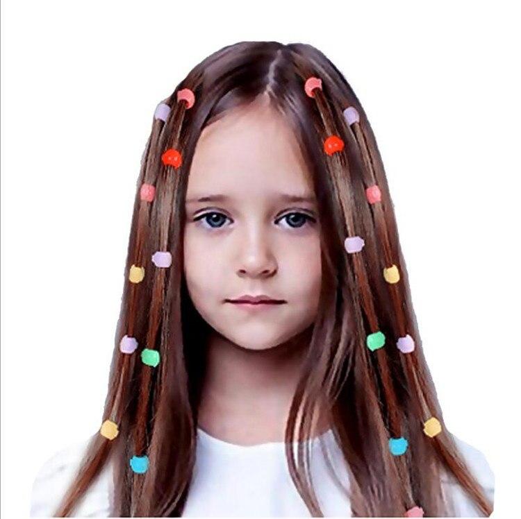 Hot DealsHair-Claw-Clips Headwear Beads Braids-Maker Plastic Girls Cute Candy-Colors Women