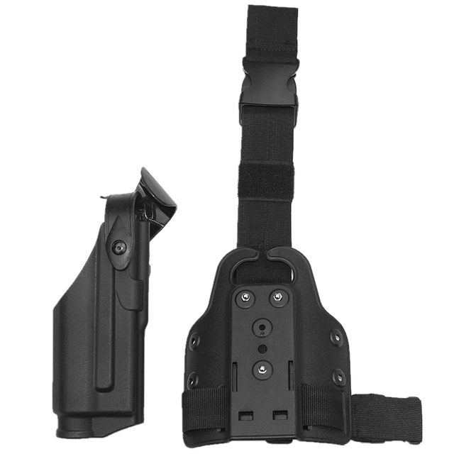81dcd395fee29c Airsoft Gun Holster GL 17 19 Accessories Safariland ALS Tactical Leg Holster  Black Right Hand GL0CK 19 with M3