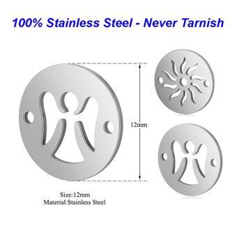 5 sztuk/partia 100% charms Vnistar ze stali nierdzewnej DIY Charms Sun Angel Connextors dla bransoletki hurtowych