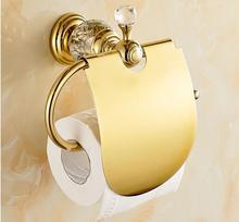 Всего латунь материал высокого качества золотой готовые ванная комната бумаги держатель корзины держатель для бумаги аксессуары для ванной комнаты