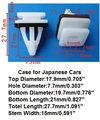 Frete grátis 500 pcs Porta retentor caso protecte para o carro Japonês