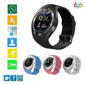 Image 1 - 696 Bluetooth Chiamata di Telefono di GSM Sim Y1 Astuto Della Vigilanza Relogio Android SmartWatch Remote Camera per bambini Intelligente orologio di Sport Pedometro