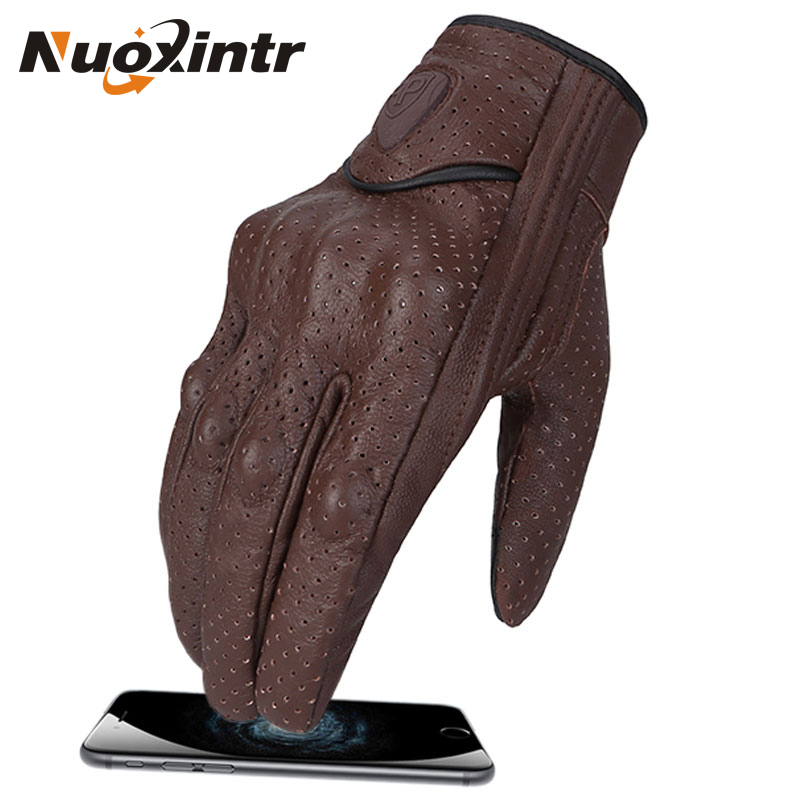 Image 2 - Motorcycle Gloves Leather Gloves Waterproof Motorcycle Gloves Summer Racing Full Finger Motorcycle Glove Women Men Touch Screen-in Gloves from Automobiles & Motorcycles