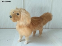 large 25x6x16cm simulation brown golden Retriever dog model polyethylene&furs handicraft,home decoration toy d2200