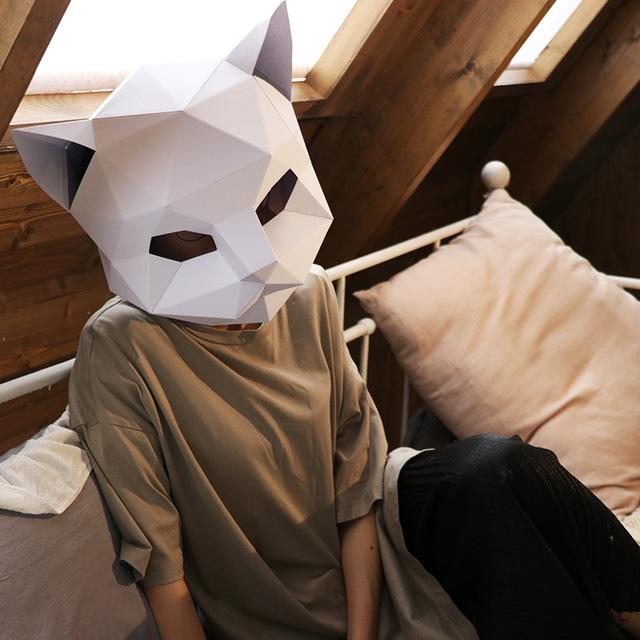 Le chat – Paper Mask 3D Creative